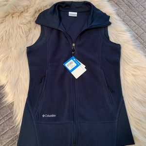 NWT Columbia fleece vest.